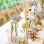 Natural flowers table - wedding